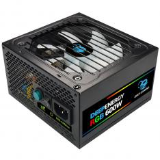 FUENTE DE ALIMENTACION COOLBOX DEEPENERGY RGB600 / 600W 80+ BRONZE GAMING RGB