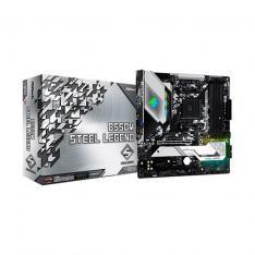 PLACA BASE ASROCK AM4 B550M STEEL LEGEND M-ATX / 4 X DDR4 / 6 X SATA6 / 2 X USB 3.2 / 2 X USB 2.0 90-MXBCU0-A0UAYZ